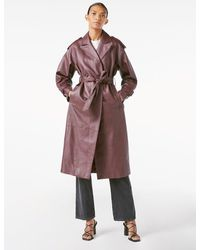 FRAME Rich Leather Trench - Multicolor