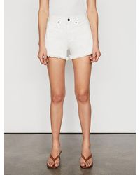 FRAME Le Simone Short Raw After - White