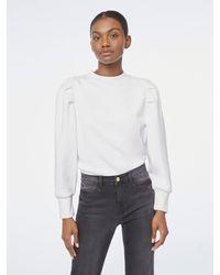 FRAME Shirred Sweatshirt - White