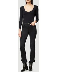FRAME Cut Out Long Sleeve Body Suit - Black