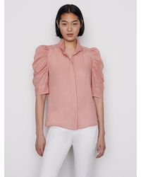 FRAME Gillian Top - Pink
