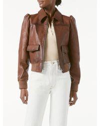 FRAME Femme Leather Bomber - Brown