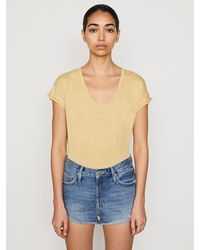 FRAME Easy Scoop Tee - Multicolour