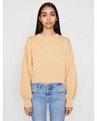 FRAME Easy Shirtail Sweatshirt - Natural