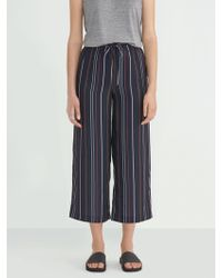 Frank And Oak - Printed Wide Leg Pant In Navy - Lyst
