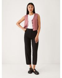 Frank And Oak The Alice Straight Pant - Black