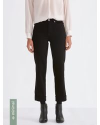 Frank And Oak - The Patti Straight-fit Jean In Black - Lyst