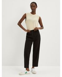 Frank And Oak The Pull-on Alice Straight Pant - Black