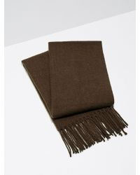 Frank And Oak - Wool-blend Scarf In Camel - Lyst