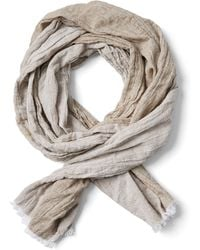 Frank And Oak - Lightweight Cotton Scarf In Sand - Lyst