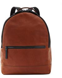Frank And Oak - Leather Backpack In Brown - Lyst