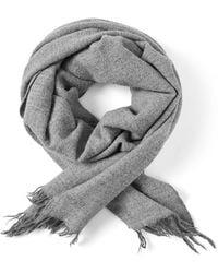 Frank And Oak - Woven Wool Scarf In Grey - Lyst