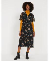 Frank And Oak - Chiffon Bell Sleeve Dress - Lyst