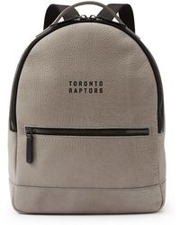 Frank + Oak - Raptors Pebbled Italian Leather Backpack In Grey - Lyst