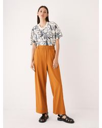 Frank And Oak The Sally High-waisted Wide Leg Pant - Multicolor