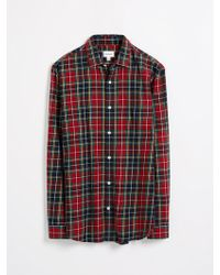 Frank And Oak Flannel Tartan Shirt - Sun-dried Tomato - Red
