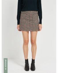 Frank And Oak - Glen Check Mini Skirt - Lyst