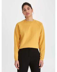 Frank And Oak - The Vintage Wash Gym Sweatshirt In Honey Gold - Lyst