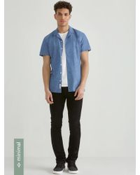 Frank And Oak - Camp Collar Chambray Shirt With Neps - Lyst