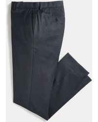 Frank And Oak The Laurier Sharkskin Stretch-wool Suit Trouser - Blue