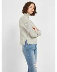 Frank And Oak - Donegal Mock Neck Sweater - Lyst