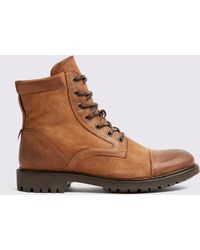 Frank And Oak - Oiled Suede Combat Boots - Lyst