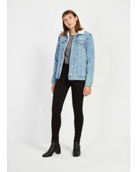 Frank And Oak - The Debbie High-waisted Skinny Jean In Jet Black - Lyst