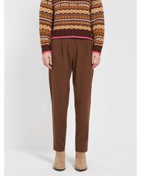 Frank And Oak - The Grant Pleated Pant - Brown - Lyst