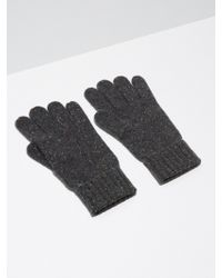 Frank + Oak - Donegal-wool Knit Gloves In Charcoal - Lyst