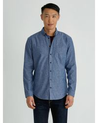 Frank And Oak - The Odessa Chambray Shirt In Blue - Lyst