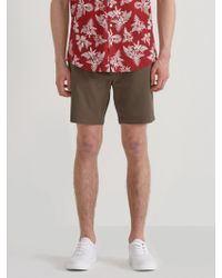 Frank And Oak - Woven Stretch Twill Jogger Shorts In Chocolate Chip - Lyst