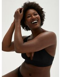 Frank And Oak The Plunge Neck Bra - Brown