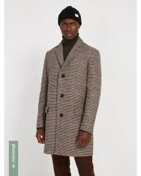 Frank And Oak - Recycled Wool-blend Classic Topcoat - Glen Check - Lyst