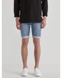 Frank And Oak - French Terry Denim Shorts In Light Indigo - Lyst