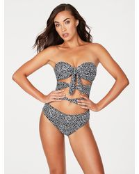 Frederick's of Hollywood Montauk Tie-up One Piece - Multicolor