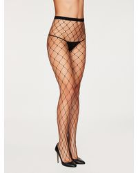 Frederick's of Hollywood All Netted Up Fishnet Tights - Black