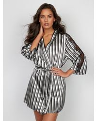 Frederick's of Hollywood Odette Plus Size Robe - Black