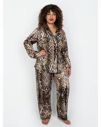 Frederick's of Hollywood Harrietta Satin Pajama - Multicolor