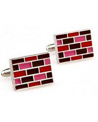 Frederick Thomas Ties Pink, Red And Brown Brick Cufflinks