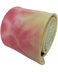 Frederick Thomas Ties Multicoloured Pastel Tie Dye Mens Cotton Tie - Pink