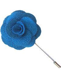Frederick Thomas Ties Royal Blue Floral Lapel Pin