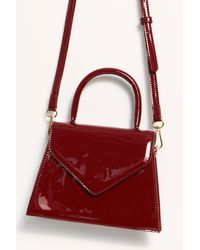 Free People Penny Top Handle Clutch - Red