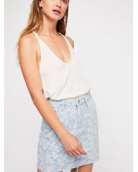 Free People - Zee Gee Why Kick Start Jacquard Skirt - Lyst