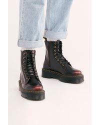 Free People Dr. Martens Jadon Lace-up Boots - Multicolour