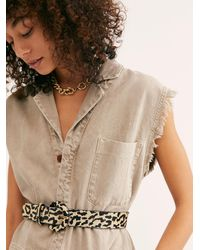 Free People Wildcat Leather Belt By Fp Collection - Multicolour