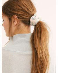 Free People Sweater Weather Scrunchie - White