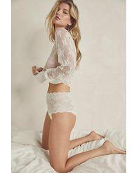 Intimately Lili Lace High-waist Brief Undies - White