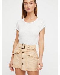 Free People - Hanging On Tight Mini Skirt - Lyst