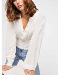 Free People - Crystal Clear Buttondown - Lyst
