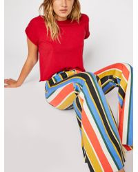 Free People Just Float On Printed Flare Jeans By We The Free - Multicolour